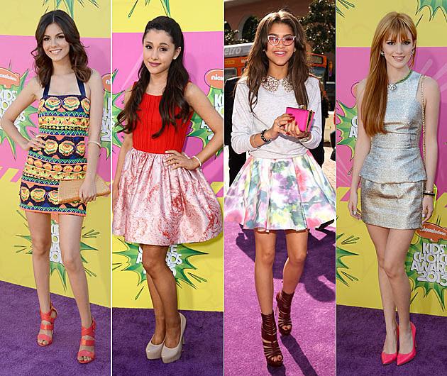 Victoria Justice Ariana Grande Zendaya Coleman Bella Thorne Kids Choice Awards