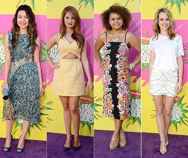 Miranda Cosgrove Bella Thorne Rachel Crow Bridgit Mendler Kids Choice Awards 2013