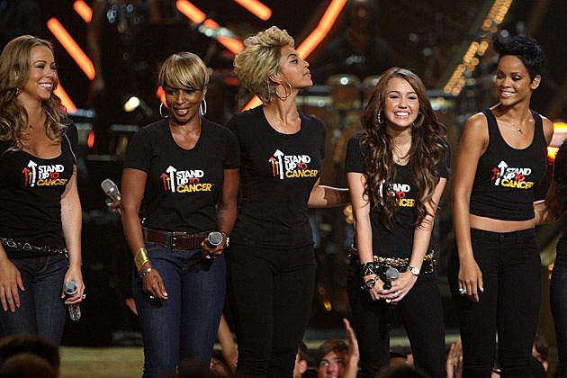 Mariah Carey  Mary J. Blige Beyonce Miley Cyrus Rihanna