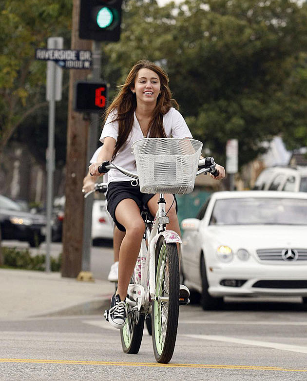 Miley Cyrus Bike Ride