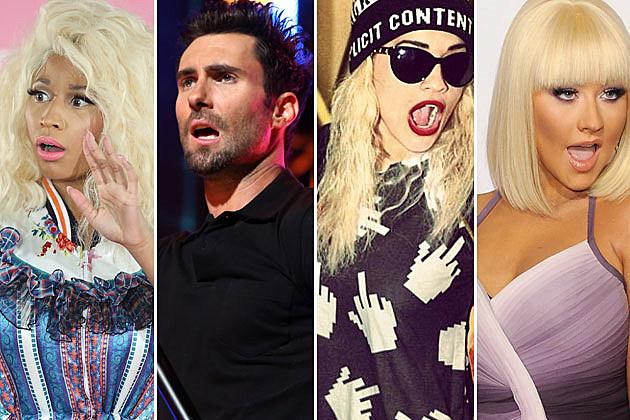 Nicki Minaj Adam Levine Rita Ora Christina Aguilera