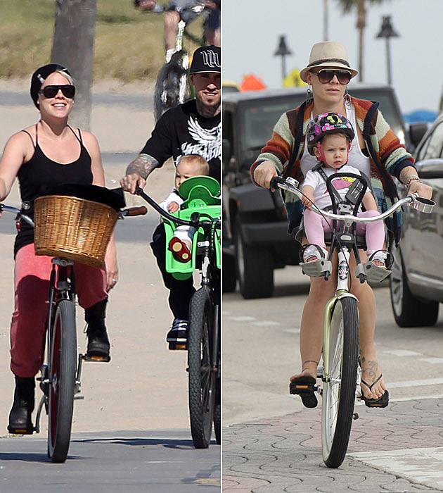Pink Carey Hart Willow Bike Ride