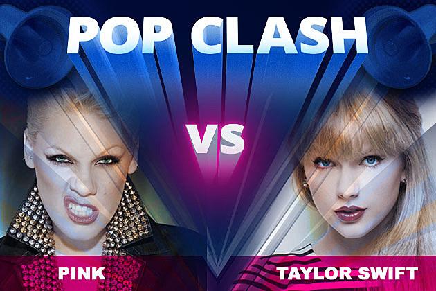 Pink Taylor Swift Pop Clash