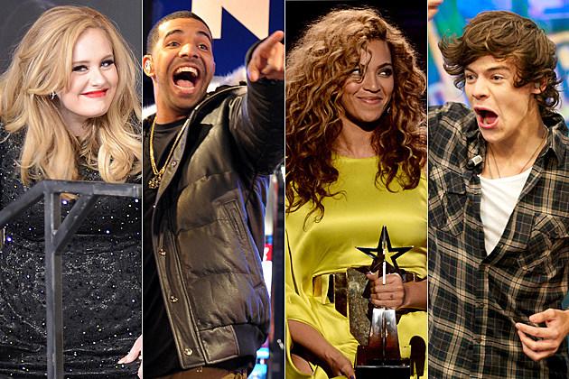 Adele Drake Beyonce Harry Styles