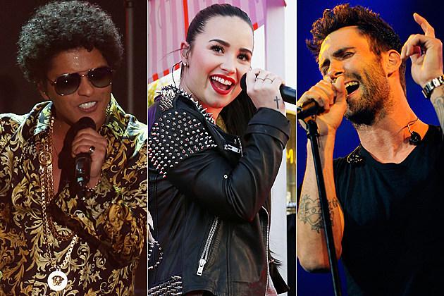Bruno Mars Demi Lovato Adam Levine
