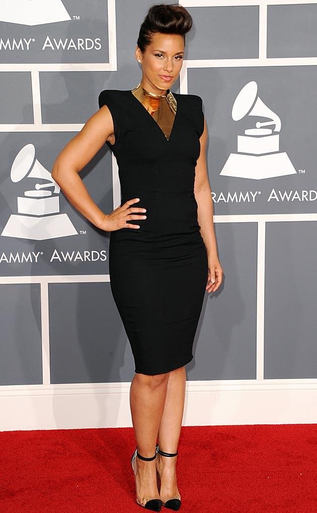 Alicia Keys Alexandre Vauthier 2012 Grammys