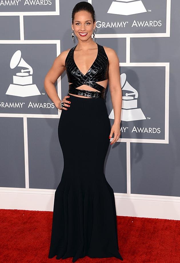 Alicia Keys Azzedine Alaia Grammys 2013