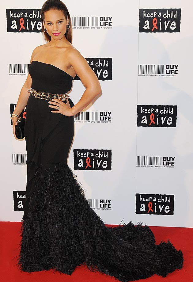 Alicia Keys Givenchy Keep a Child Alive 2010