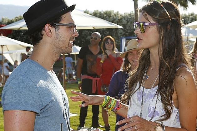 Joe Jonas Alessandra Ambrosio Lacoster Coachella 2013