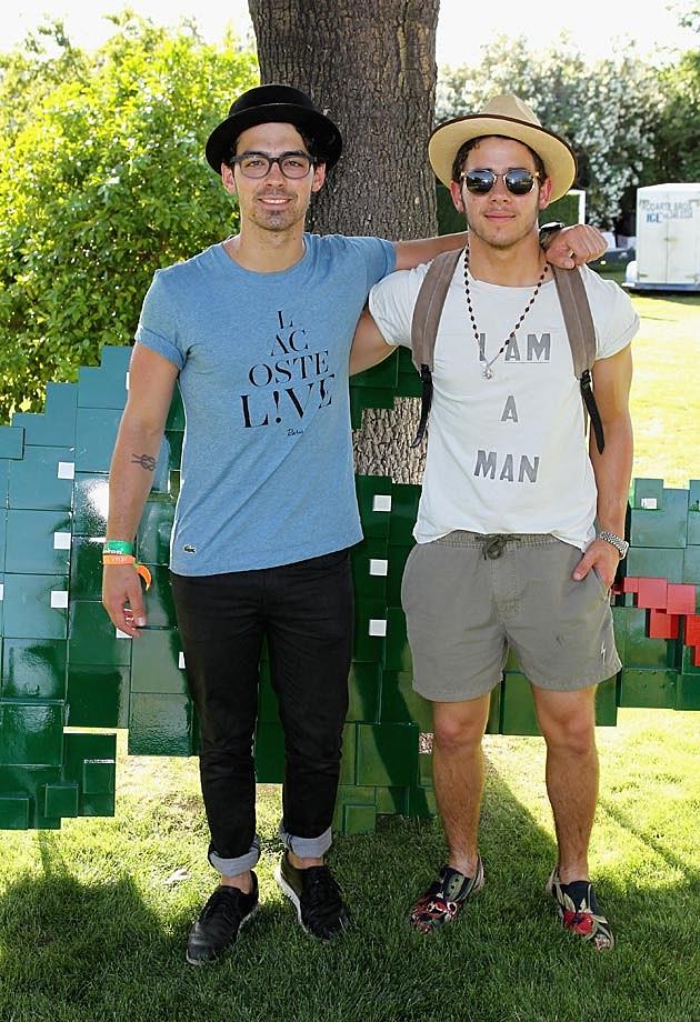 Joe Jonas Nick Jonas Coachella Lacoste 2013