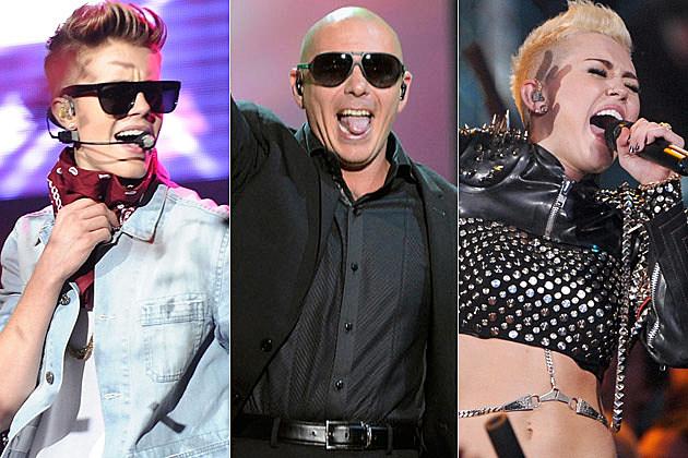 Justin Bieber Pitbull Miley Cyrus