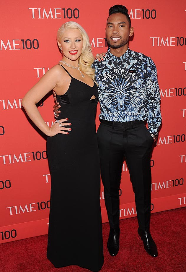 Christina Aguilera Miguel Time 100 Gala Victoria Beckham Dress