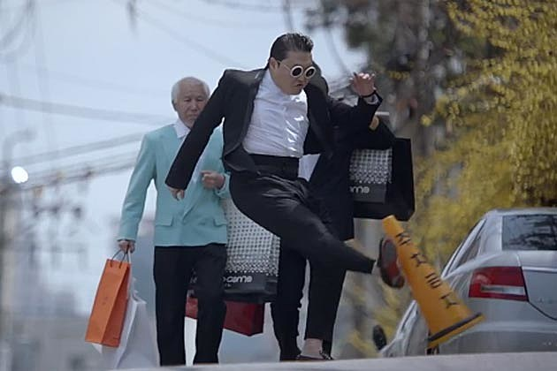 Psy Gentleman Kicks Cone
