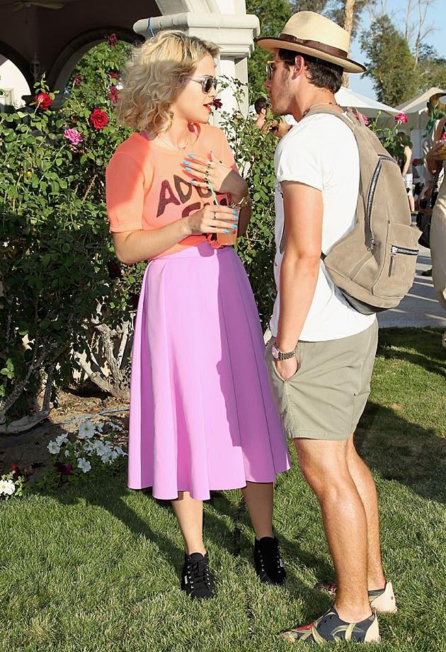 Rita Ora Nick Jonas Coachella 2013