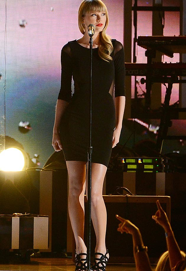 Taylor Swift Elizabeth + James Black Dress Tim McGraw Special