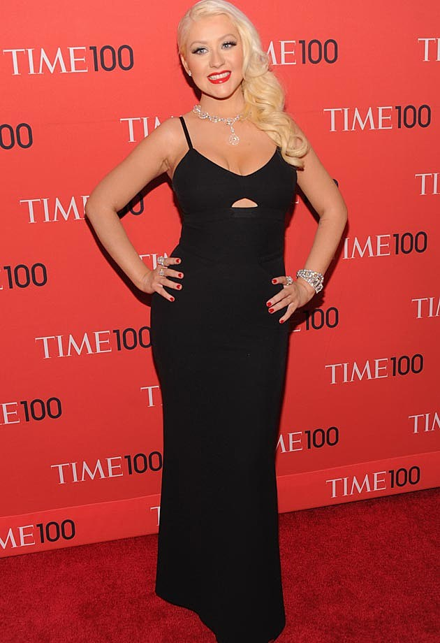 Christina Aguilera Time 100 Gala Victoria Beckham Dress