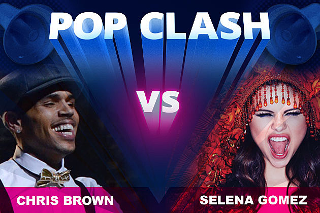 Chris Brown Selena Gomez Pop Clash