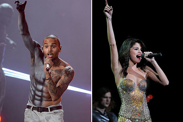 Chris Brown Selena Gomez