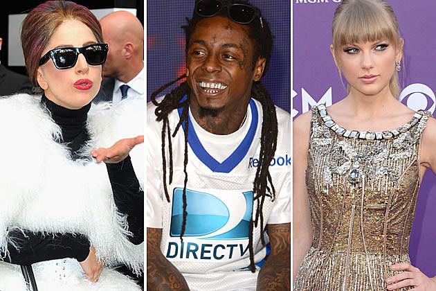 Lady Gaga Lil Wayne Taylor Swift