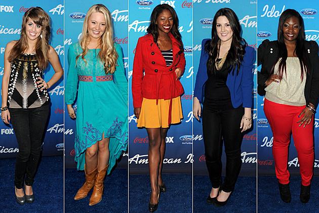 Angie Miller Janelle Arthur Amber Holcomb Kree Harrison Candice Glover American Idol
