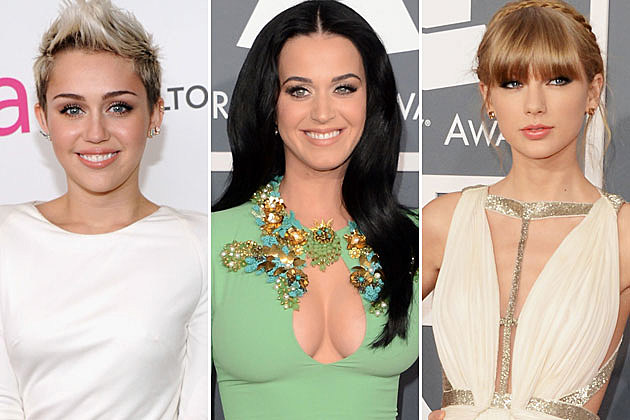 Miley Cyrus Katy Perry Taylor Swift