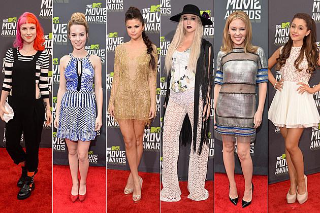 Hayley Williams Bridgit Mendler Selena Gomez Kesha Kylie Minogue Ariana Grande