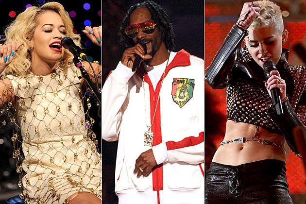 Rita Ora Snoop Dogg Miley Cyrus