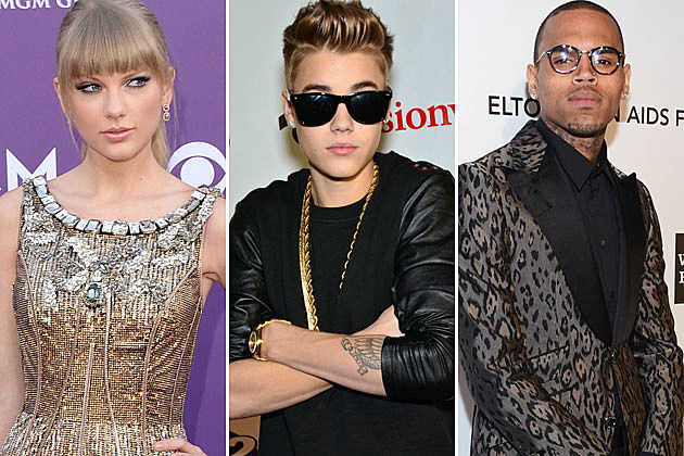 Taylor Swift Justin Bieber Chris Brown