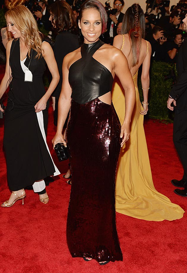 Alicia Keys Jason Wu 2013 Met Gala