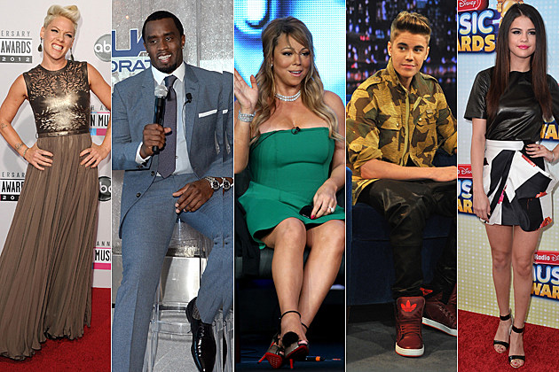 Pink Diddy Mariah Carey Justin Bieber Selena Gomez American-Idol-Dream-Team