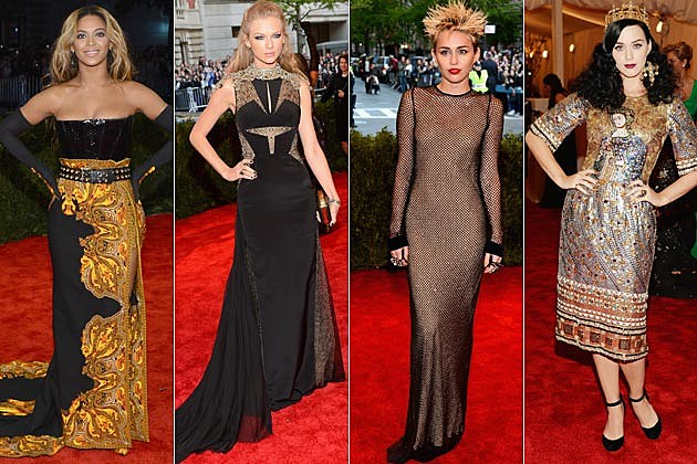 Beyonce Taylor Swift Miley Cyrus Katy Perry 2013 Met Gala