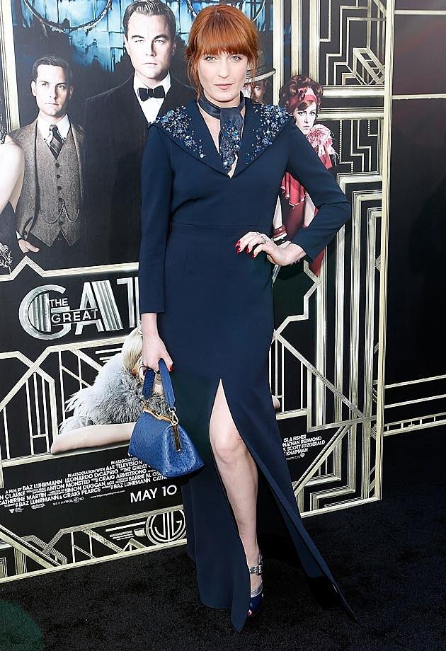 Florence Welche NYC Gatsby Premiere Miu Miu
