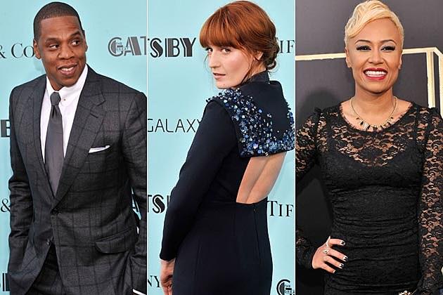 Jay-Z Florence Welch Emeli Sande NYC Gatsby Premiere