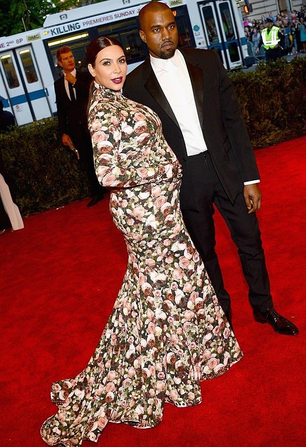 Kim Kardashian Kanye West 2013 Met Gala