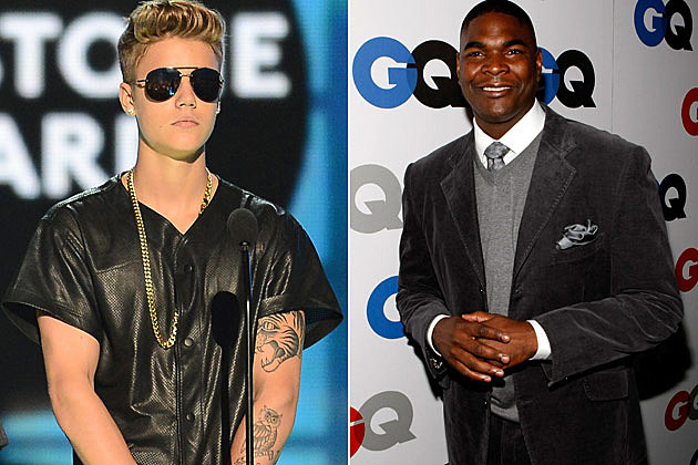 Justin Bieber Keyshawn Johnson