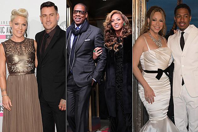 Pink Carey Hart Jay-Z Beyonce Mariah Carey Nick Cannon