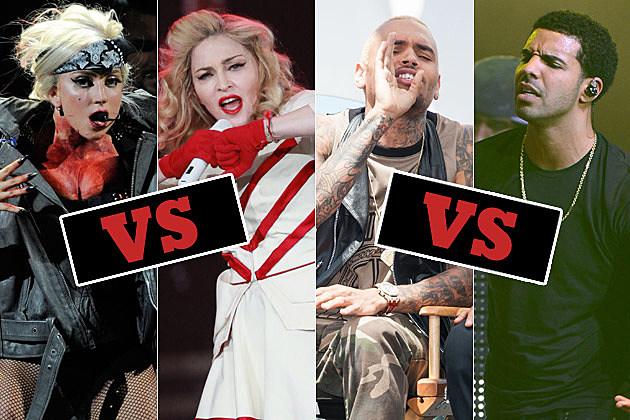 Lady Gaga Madonna Chris Brown Drake