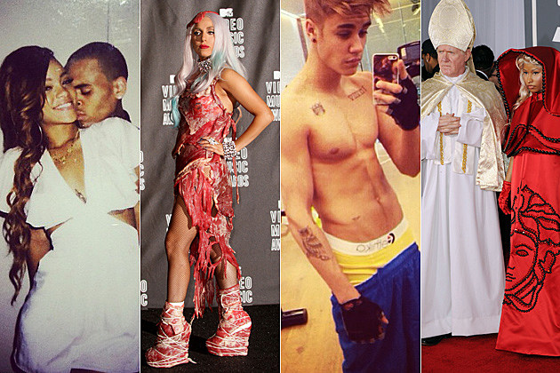 Rihanna Chris Brown Lady Gaga Justin Bieber Nicki Minaj Pope