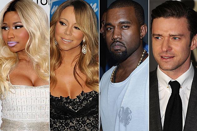 Nicki Minaj Mariah Carey Kanye West Justin Timberlake
