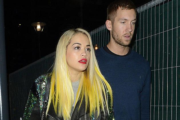 Rita Ora Hair Singer Dyes Her Blue Hair Yellow: Rita Ora Spotted With Calvin Harris