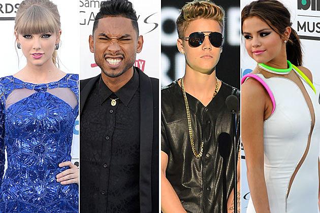 Taylor Swift Miguel Justin Bieber Selena Gomez