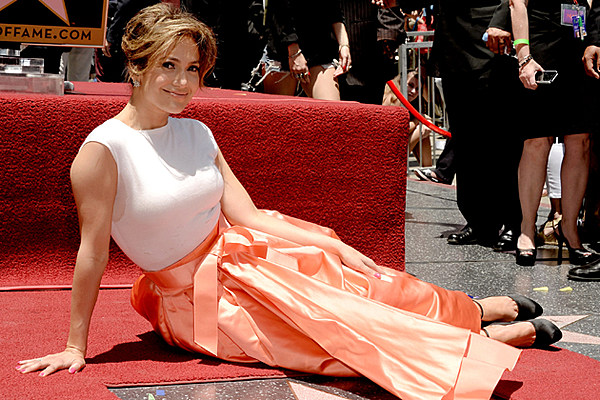 Jennifer Lopez Gets Star on Hollywood Walk of Fame [Pics]