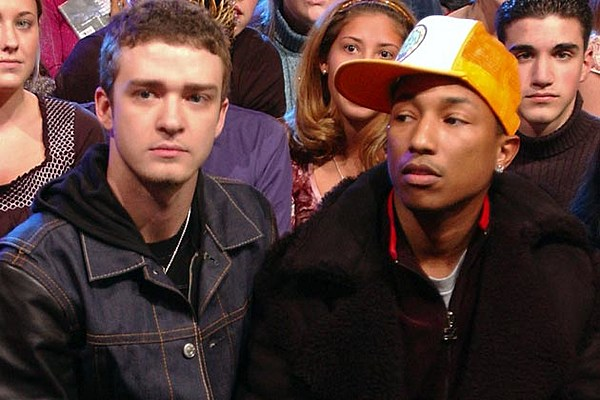 Justin Timberlake + Pharrell Are in the Studio Together [Pic]