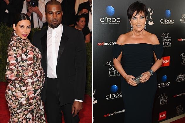 Kim Kardashian Kanye West Kris Jenner