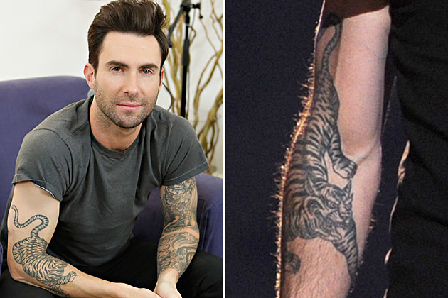 which singer has the best tattoo of a wild animal
