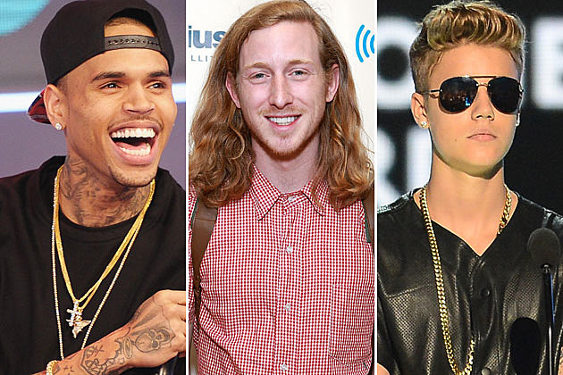 Chris Brown Asher Roth Justin Bieber