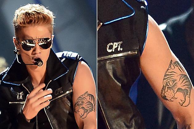 Justin Bieber Tiger Tattoo