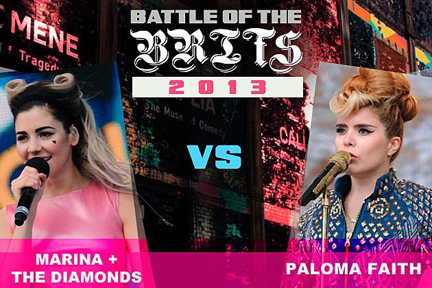 Marina and the Diamonds Paloma Faith Battle of the Brits