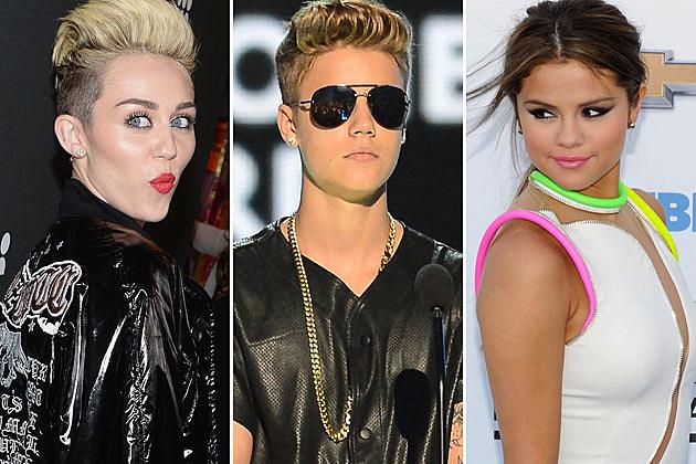 Miley Cyrus Justin Bieber Selena Gomez