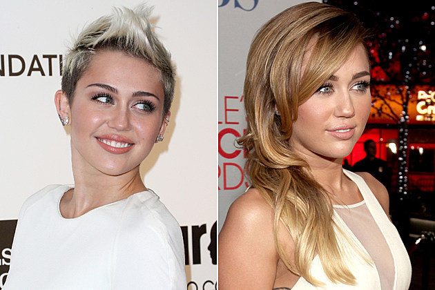 Miley Cyrus Short Hair and Long Hair